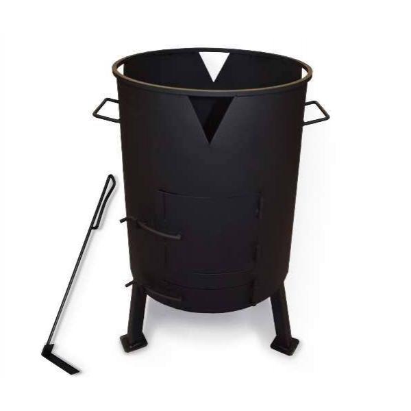 Печь для казана с поддувом, диаметр 515 мм (кочерга в комплекте)