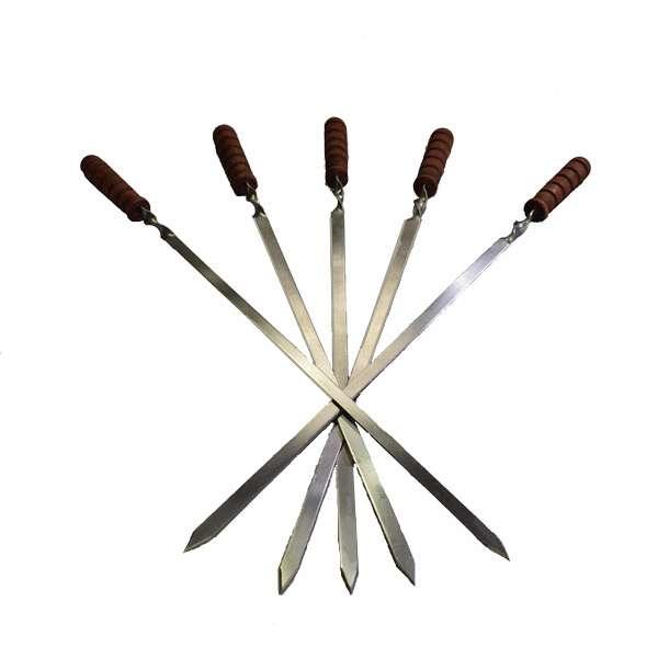 Шампур с деревянной ручкой (750х15х3 мм)