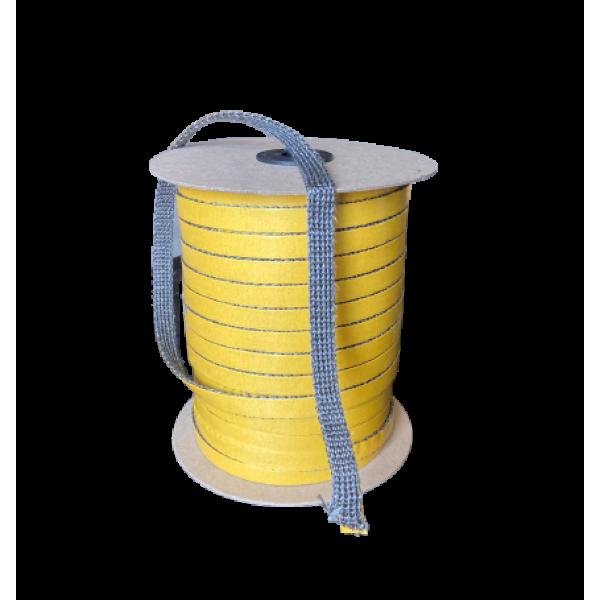 Шнур графитовый теплоизоляционный с клейким слоем, 2 мм