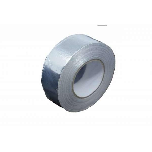 Скотч термостойкий алюминиевый армированный 50мм