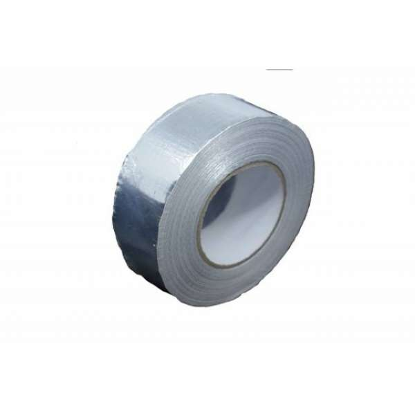 Скотч термостойкий алюминиевый армированный 75мм