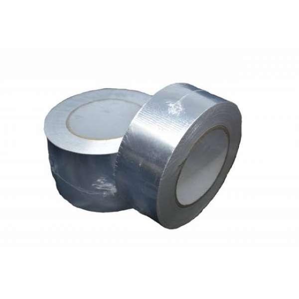 Скотч термостойкий алюминиевый 75 мм