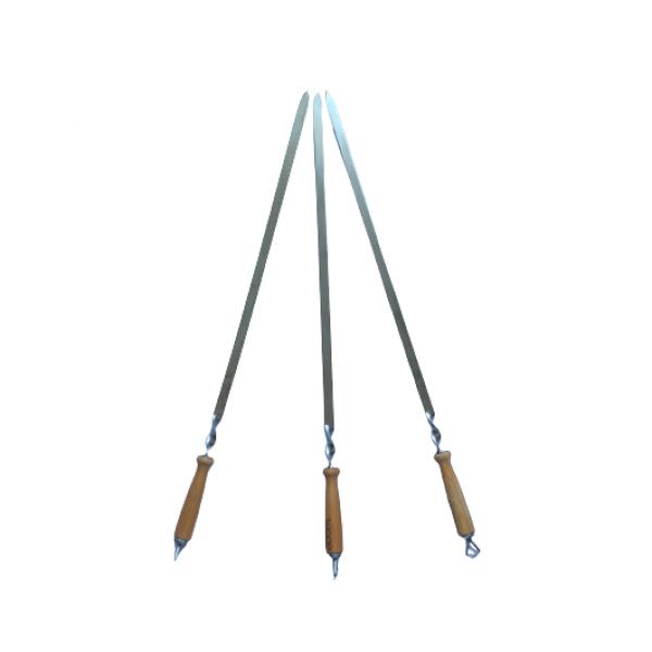 Шампур с деревянной ручкой (820х20х3 мм)