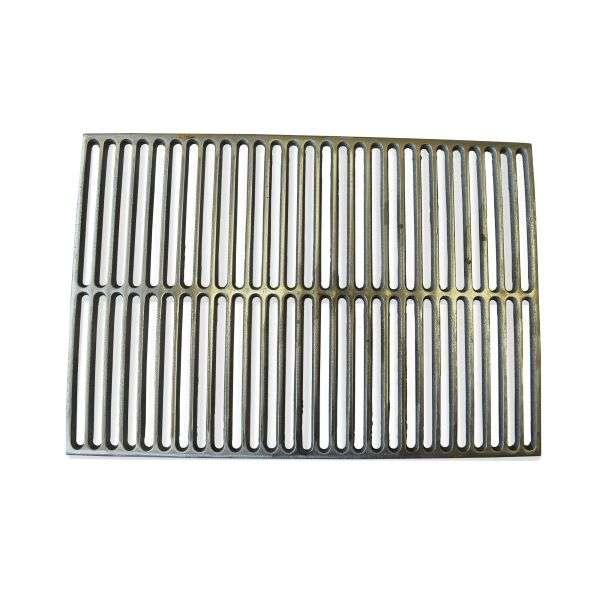 Чугунная решетка-гриль (550х380 мм) с прямыми спицами