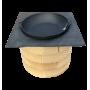 Чавунна сковорода-жаровня Сітон 400х90 мм