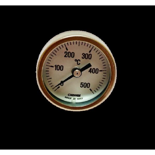 Термометр биметаллический 0-500°C для духовой печи (с трубкой 34 мм)