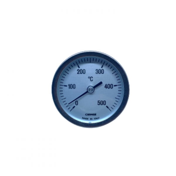Фронтальный аксиальный термометр 0-500°C  (с трубкой 63 мм)