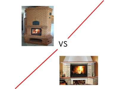 Что построить, печь или камин?